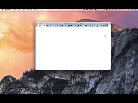 Speed Up Your Mac's Window Resize Animation With A Terminal Command