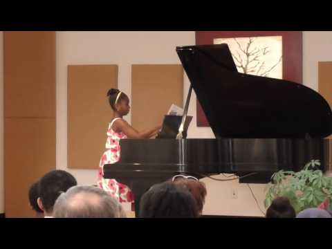 Helen Butkov student Sydnie Ampofo. Royal Conservatory exam Level 1