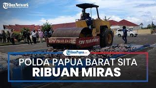 Gelar Operasi Pekat Selama Ramadan, Polda Papua Barat Sita Ribuan Miras hingga Ratusan Senjata Tajam
