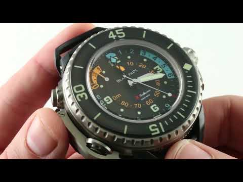 Blancpain Fifty Fathoms X Fathoms Diving Depth Gauge – Chronograph 5018-1230-64A Luxury Watch Review