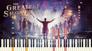 """The Greatest Showman - """"The Greatest Show"""" [Piano Tutorial] (Synthesia)"""