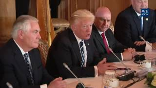 President Trump participates in a bilateral meeting with the Prime Minister of Belgium