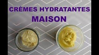 Crèmes hydratantes maison
