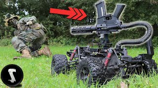 ARMED AIRSOFT ROBOT Scares the @#$% out of Players