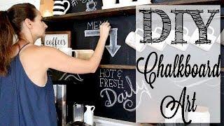 DIY Chalkboard Art | Coffee Bar Decor