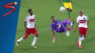 South African goalkeeper stuns football world with 95th minute overhead kick (Video)