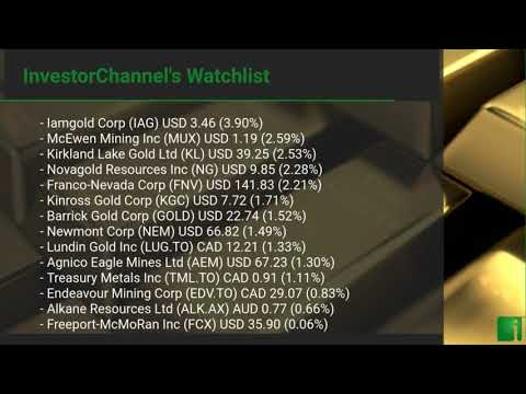 InvestorChannel's Gold Watchlist Update for Wednesday, April, 21, 2021, 16:00 EST