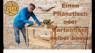 Pflanztisch aus Restholz selber bauen | günstig und simpel