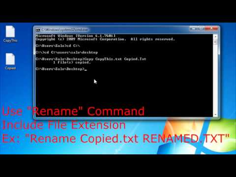 How to delete / create/rename a folder or directory using