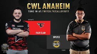 FaZe Clan vs Splyce | CWL Anaheim 2019 | Day 1