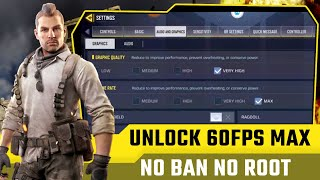 How To Unlock Max Graphics and Max Fps in Call Of Duty Mobile! Get Max Frame Rate In COD Mobile 2021