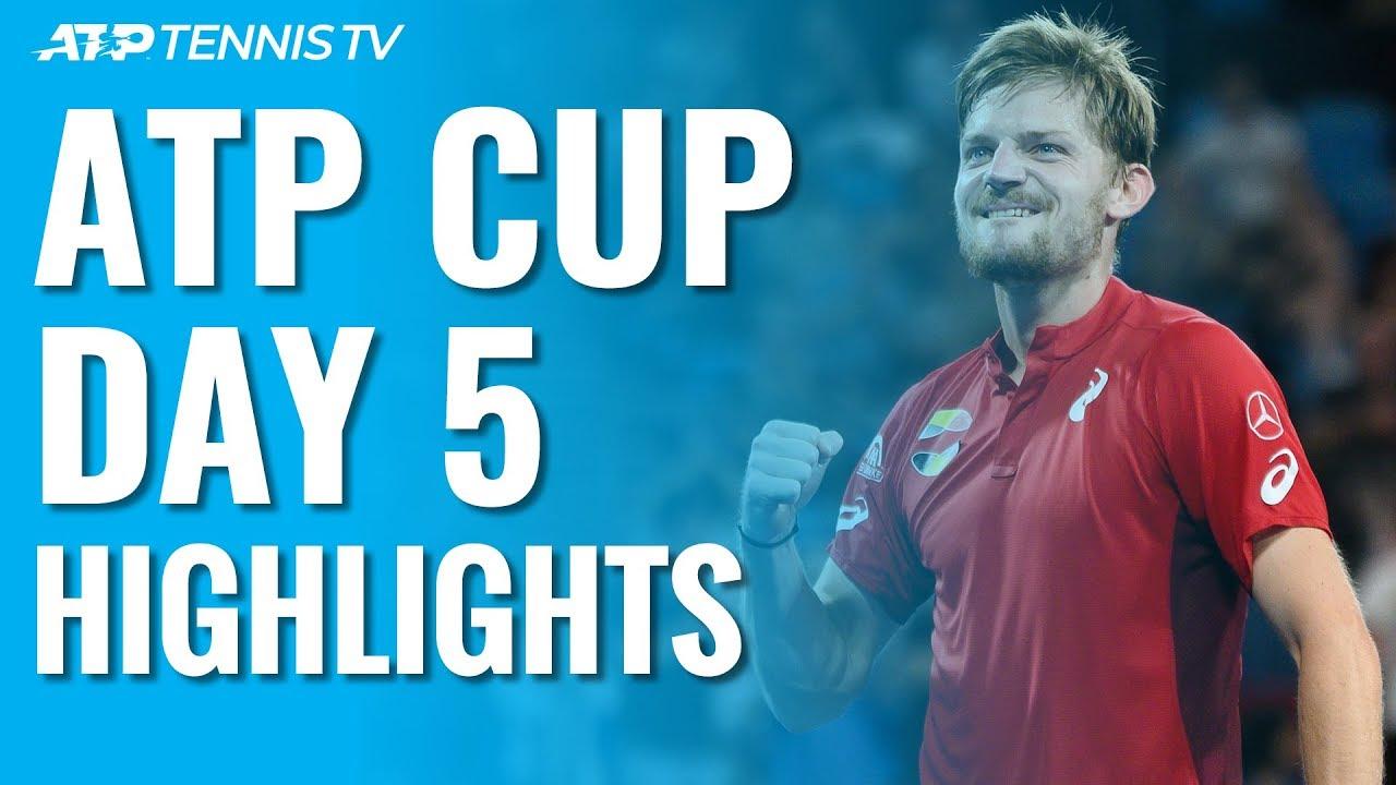 Обзор лучших ударов и розыгрышей дня на ATP Cup (ВИДЕО)