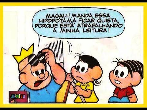 Mônica e Magali em - Sorvete caro demais - Quadrinhos Turma da Mônica