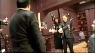 Coulisses du spot pour Syfy Channel avec Amanda Tapping et Robin Dunne (VO)