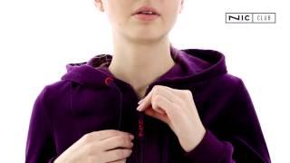 Nic Club Cinta 1301 (темно-фиолетовый), велюровый костюм опт