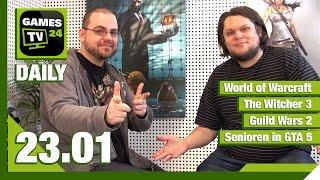 The Witcher 3 und die USK, WoW-Rekord, Senioren in GTA 5 / GamesTV24 Daily / 23.01.2015