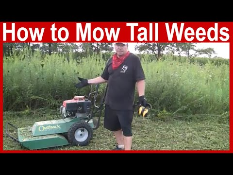 How to Mow Tall Weeds – Billly Goat Outback Brush Cutter Review