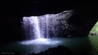 Walking in RAINFOREST to River Cave and Waterfall, Walk in Rainforest Sounds in 3D Audio, Walk ASMR