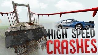 High Speed Vehicle Crashes - Wheel Grabber Police Equipment! - BeamNG Drive Mods Showcase