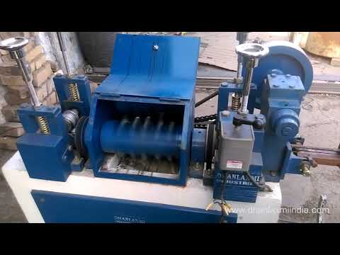Wire Straightening With Cutting Machine