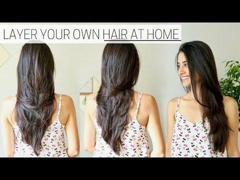 HOW I CUT & LAYER MY HAIR AT HOME » diy long layers haircut