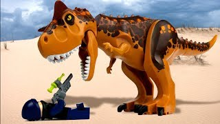 LEGO Jurassic World 🔴 Indoraptor vs Indominus Rex - 3 🦖 - dooclip.me