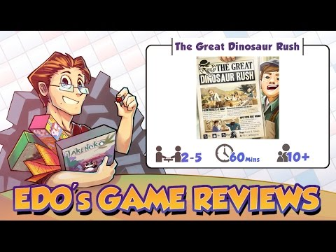 Edo's The Great Dinosaur Rush Board Game Review