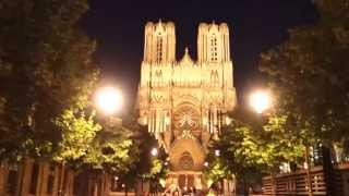 preview picture of video 'Floodlit Gothic: Reims Cathedral'