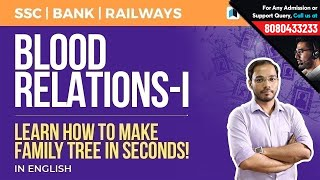 Blood Relation Part 1 | Family Tree Tricks for SSC, Bank & RRB by Testbook.com
