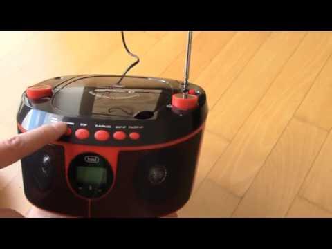 Trevi CMP 546 BT CD Player Radio AUX rot, Schicker, kleiner CD Spieler mit guter Konnektivität