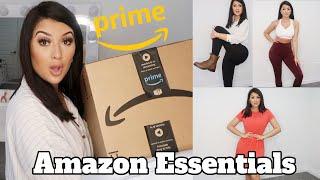 AMAZON BRAND CLOTHING TRY ON HAUL! | Amazon Essentials