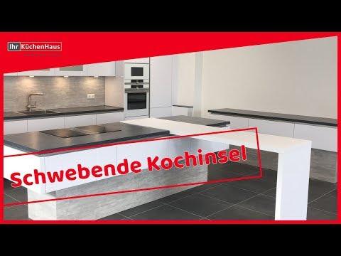 Designküche I Grifflosküche I Schwebende Kochinsel I Ihr Küchenhaus