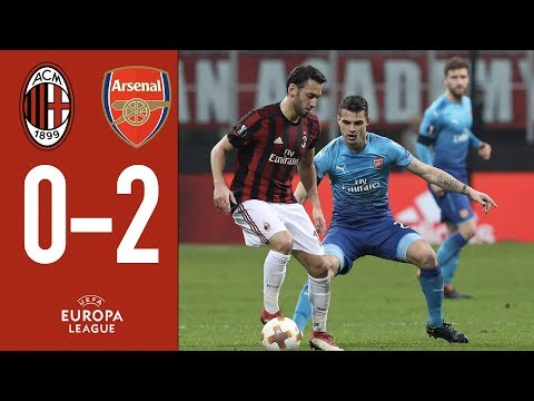 Highlights AC Milan 0-2 Arsenal - Europa League Round of 16 First Leg