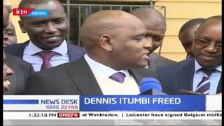 Itumbi's press address after release
