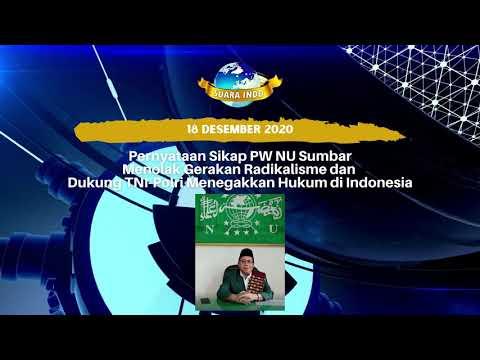 Pernyataan PWNU Sumbar Menolak Radikalisme Dan Dukung TNI-Polri Tegakkan Hukum