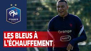 Les Bleus à l'échauffement, Equipe de France I FFF 2020