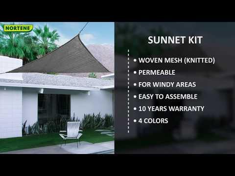 Sunnet Kit Elastic Cuadrada color Marrón, Nortene