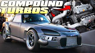 CRAZIEST SETUP EVER | Compound turbo, billet K24, S2000 by 1320Video