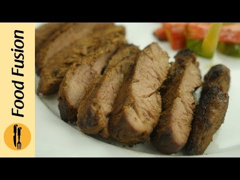 Beef Steak with Mushroom Sauce recipe by Food Fusion
