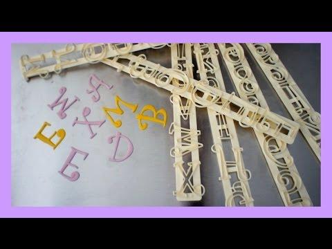 Fondant Ausstecherleisten - How to use Tappits - Buchstabenaussteher benutzten - von Kuchenfee