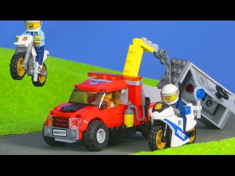 LEGO City Polizei deutsch: Polizeiauto & Abschleppwagen | Spielzeugautos Unboxing