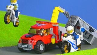 LEGO City Polizei deutsch: Polizeiauto & Abschleppwagen   Spielzeugautos Unboxing