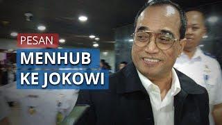 Menhub Budi Karya Membaik, Berikan Salam Kepada Jokowi Melalui Sebuah Video