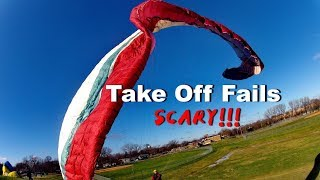 Paragliding Launch Takeoff Compilation: What Happens In The Real World!