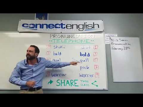 Connect English Pronunciation Telephone, Volume 15 - La Jolla Campus