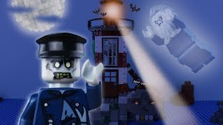 LEGO Halloween Haunted Lighthouse STOP MOTION LEGO Halloween Monster Island | LEGO | By Billy Bricks