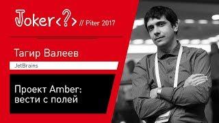 Тагир Валеев — Проект Amber: вести с полей