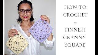 How To Crochet Finnish Granny Square