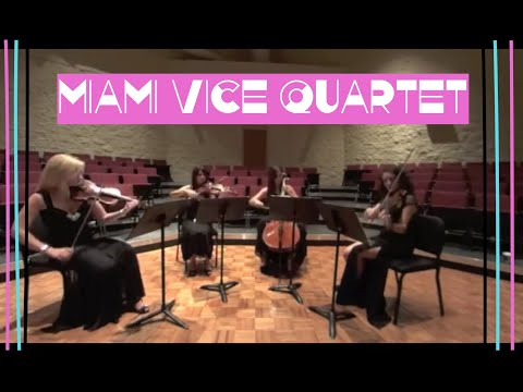 Video of Miami Vice string quartet featuring Stephanie Jaimes on cello