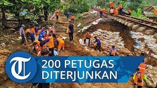 200 Petugas KAI Diterjunkan Tangani Jalur KA Lintas Sukabumi-Bogor yang Longsor
